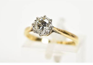 18ct Gold and Platinum 0.5ct Diamond Solitaire Ring