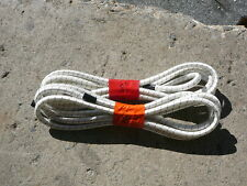 """2 White/Black Nylon Coated Rubber Rope Shock Cord 3/8"""" X 8' Discounted Bungee"""