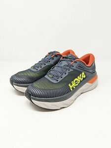 Hoka One One Bondi 7 Men's Gray/Blue Running Shoes NIB