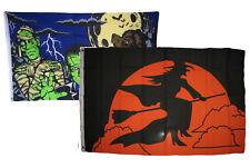 3x5 Happy Halloween 2 Pack Flag Wholesale Set Combo #7 3'x5' Banner Grommets