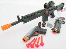3x Toy Guns Friction M-16 Toy Rifle Grey 9MM Dart Pistol Sawed-off Toy Shotgun