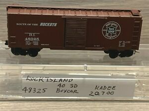 N Scale Kadee Rock Island 40' Standard Box Car #48325 Route of the Rockets 20700
