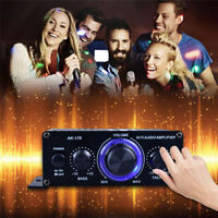 Digital Amplifier HiFi Bluetooth 400W 2CH Stereo Audio FM USB AUX AMP MP3