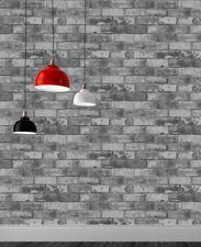 Slate Grey Brick Effect Wallpaper 3D Weathered Realistic Stone Paste The Paper