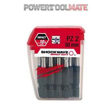 Milwaukee 4932352980 Shockwave PZ2 Pozi Impact Duty 50mm - x10 Screwdriver Bits