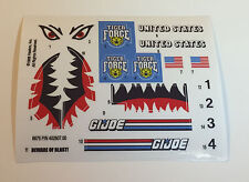 GI Joe Tiger Force Tiger Sting Sticker Decal Sheet