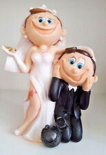 Large Wedding Cake Topper Funny Humorous Wilton Ball and Chain Wedding Accessory