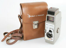 VINTAGE ART DECO MOVIE FILM CAMERA WITH ORIGINAL BROWN LEATHER CASE