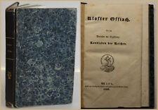 Kolster Ossiach 1833 Geschichte des Klosters mit Sagen & Legenden EA Holzmann sf