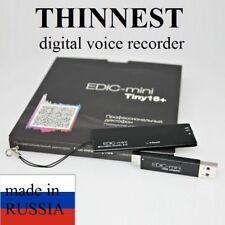 THINNEST! SPY Voice Activated AUDIO RECORDER Edic mini Tiny16+ A75 slim bug
