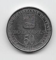 World Coins - Venezuela 50 Bolivares 2016 Coin Y# NEW; High Grade  Lot-V9