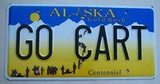 "ALASKA  VANITY LICENSE PLATE "" GO CART "" SOAPBOX DERBY RACE RACING RACER OHIO"