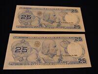 EL SALVADOR 25 COLONES P-136 1983 DAM COLON UNC LATINO MONEY BILL BANK NOTES