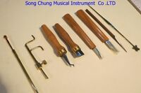 8pcs various Violin tools,soundpost retriever/setter/Gauge /cutter/scraper etc.