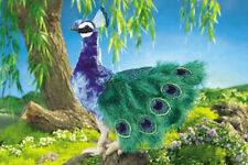 LARGE PEACOCK  PUPPET # 2539 * STUNNING!! *FREE SHIPPING/USA ~ Folkmanis Puppet