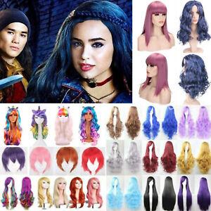 Festival Women's Girl's Children Cosplay Fancy Costume Descendants 2 Wigs Mal