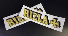 2 x Rizla Stickers Race & Rally Car Stickers. 150mm x 40mm.