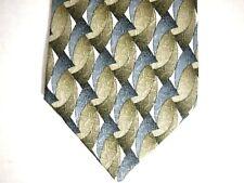 """Monterey Bay J. Blades Mens Necktie Tie Grey Green Geometric 100% Silk 58"""""""