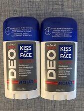 Kiss My Face Natural Man Deo Deodorant Lot of 2 Invigorating Aqua Scent