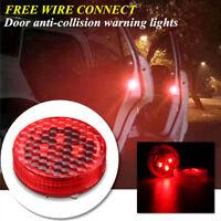 2PCS Universal Wireless Car Door Opened Warning LED Flash Light Anti-collid TOP*