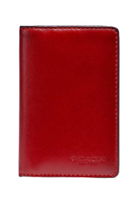 Coach Men's Calf Leather Colorblock Bifold Slim Card Wallet, Wine Red - 89133