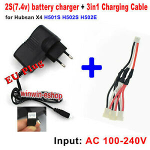 EU plug Balance Charger + 3-in-1 Charging Cable for Hubsan X4 H501S H502S/E RC