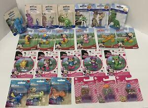 New Lot of 24 Figurines Disney Junior, Barbie, Monsters Inc, Toy Story , Nemo