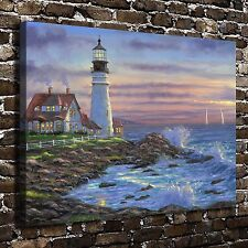 Maines lighthouse Paintings HD Print on Canvas Home Decor Wall Art Picture