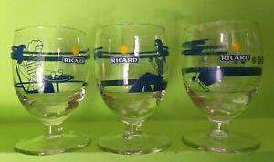 3 verres Ricard les boulistes