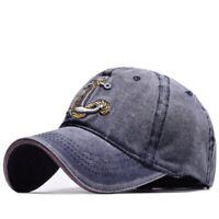 Men's Baseball Cap Women Snapback Hats Embroidery Adjustable Anchor Hat Caps