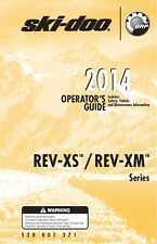 Ski-Doo owners manual book 2014 REV-XS & REV-XM / Summit SP & Freeride 137""