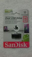 Sandisk Ultra 16gb Dual Usb Drive For Smartphones, Tablets, Laptops