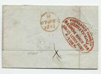 1841 Gilpins Exchange New York forwarder oval on transatlantic stampless [y6020]