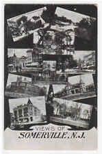 Somerville Multi View New Jersey 1908 postcard