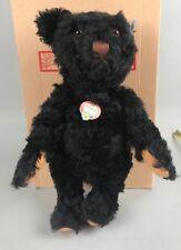 "Vintage Steiff Black Teddy Bear -1953 Replica 408519 2004 LE715/3000 COA 13"" NIB"