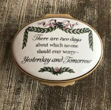 Halcyon Days Enamels Never Worry About Yesterday Or Tomorrow - Excellent
