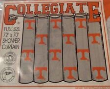 Classic Clear Vinyl Tennessee Vols Shower Curtain & Rings UT Volunteers Rare VFL