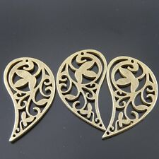 20pcs Vintage Bronze Tone Leaf Shape Flower Connector Jewelry Finding 06448