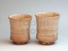 Hagi ware kumi yunomi Japanese tea cups pottery kairagi Tohru Funasaki set of 2