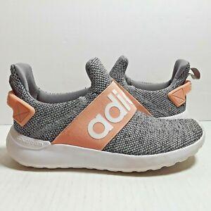 Kids Adidas Lite Racer Adapt K - Slip On Shoes - Gray/Glow Pink (EG1364) Sz 13K