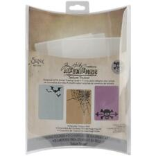 Sizzix Texture Fades Embossing Folders 3/Pkg Spooky Things Set By Tim Holtz NEW