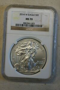 2014-(W) American Silver Eagle $1 NGC MS70