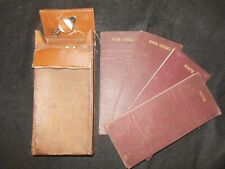 Collection of 4 England/Wales Road Maps (c1910) + Compass/Original Leather Case