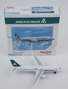 Herpa 1/500 Mexicana de Aviación Airbus A320. # 501699. Tampico Reg