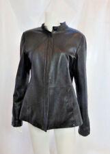 Danier Black Very Soft Long Leather Women's Coat Jacket Sz  US 8-10