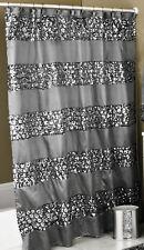 Sinatra silver sequins design Fabric Shower Curtain popular bath - Grey