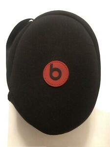 Original Beats by Dr. Dre Solo 2 3 Wireless Carry Travel Case Red Logo - Black