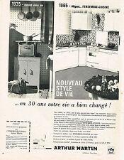PUBLICITE ADVERTISING 094  1965  ARTHUR MARTIN   cuisines équipées éléctroménage