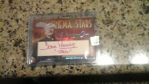 DAVID PROWSE Star Wars 2008 Donruss Americana Cinema Stars  Auto #ed 17/100