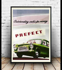 Ford Prefect , Vintage motoring advert wall art poster reproduction.